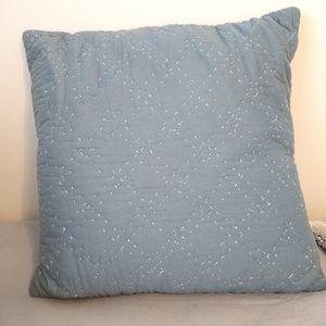 Blue accent pillow